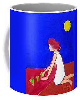 Coffee Mug featuring the painting The Planting by Winsome Gunning