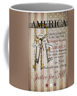 Coffee Mug featuring the photograph The Pledge by Robin-Lee Vieira