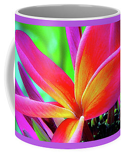 Coffee Mug featuring the photograph The Plumeria Flower by D Davila