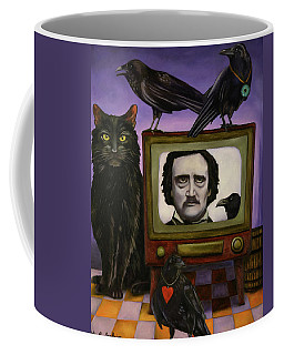 Coffee Mug featuring the painting The Poe Show by Leah Saulnier The Painting Maniac
