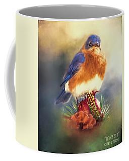 The Pondering Bluebird Coffee Mug
