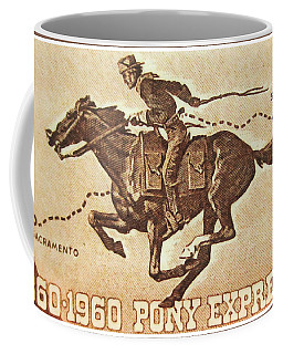 The Pony Express Centennial Stamp Coffee Mug by Lanjee Chee