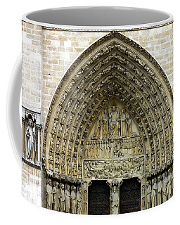 The Portal Of The Last Judgement Of Notre Dame De Paris Coffee Mug