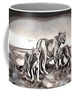 Coffee Mug featuring the digital art The Pride by Pennie McCracken