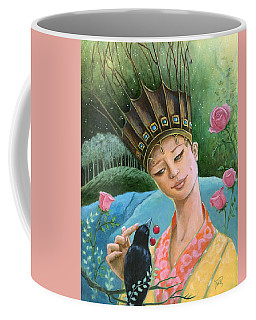 Coffee Mug featuring the painting The Princess And The Crow by Terry Webb Harshman