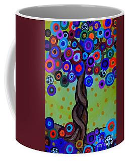 Coffee Mug featuring the painting The Prolific Tree by Pristine Cartera Turkus