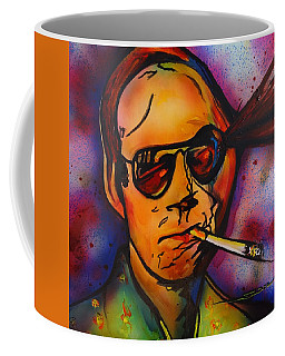 Coffee Mug featuring the painting The Psycho-delic Suicide Of The Tambourine Man by Eric Dee