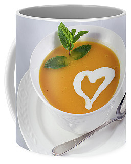 Coffee Mug featuring the photograph The Pumpkin Soup With Heart by William Lee