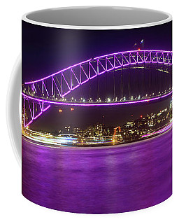 Coffee Mug featuring the photograph The Purple Coathanger By Kaye Menner by Kaye Menner