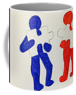 The Puzzles People  Coffee Mug