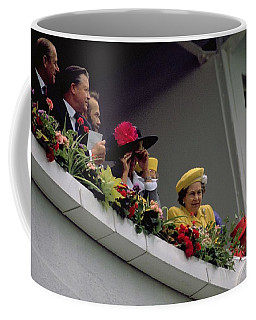 The Queen At Derby Day 1988 Coffee Mug