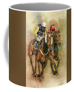 The Race To The Post. Coffee Mug