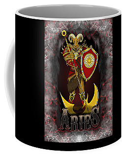 Coffee Mug featuring the drawing The Ram - Aries Spirit by Raphael Lopez