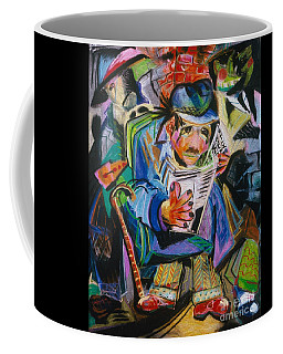 Coffee Mug featuring the painting The Reader by Donna Hall
