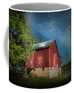 Coffee Mug featuring the photograph The Red Barn by Marvin Spates