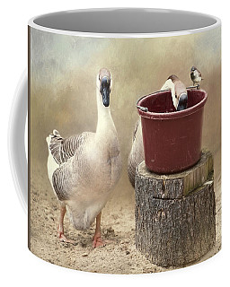 Coffee Mug featuring the photograph The Red Bucket by Robin-Lee Vieira