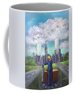 The Red Button  Coffee Mug by Randy Burns