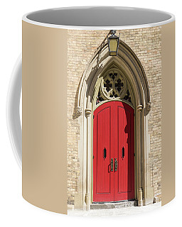 The Red Church Door. Coffee Mug