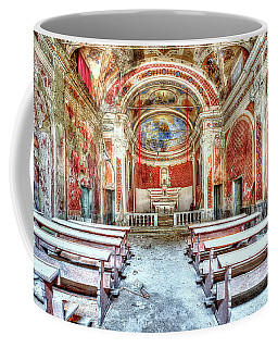 Coffee Mug featuring the photograph The Red Church by Enrico Pelos