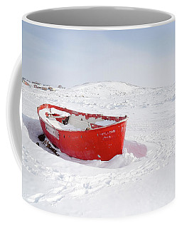 The Red Fishing Boat Coffee Mug by Nick Mares