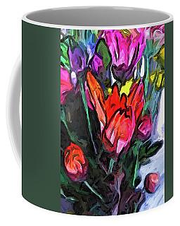 The Red Flower And The Rainbow Flowers Coffee Mug