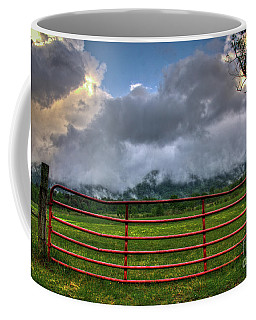 Coffee Mug featuring the photograph The Red Gate by Douglas Stucky