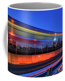 Coffee Mug featuring the photograph The Red Line Over The Longfellow Bridge by Joann Vitali