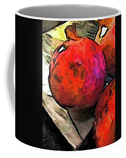 The Red Pomegranates On The Marble Chopping Board Coffee Mug