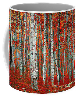 The Red Trees Coffee Mug