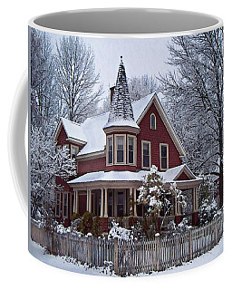 Coffee Mug featuring the photograph The Red Victorian by Joy Nichols