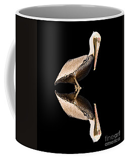 The Reflection Of A Pelican Coffee Mug