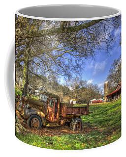The Resting Place Shadows 1947 Dodge Dump Truck Art Coffee Mug
