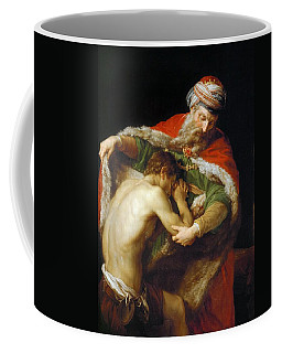 Coffee Mug featuring the painting The Return Of The Prodigal Son by Pompeo Batoni