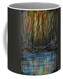 Coffee Mug featuring the digital art The River Side by Darren Cannell