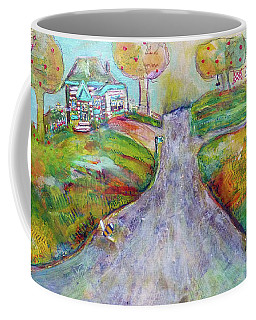 Coffee Mug featuring the painting The Road Home by Claire Bull