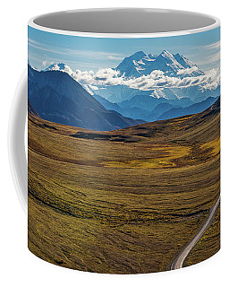 The Road To Denali Coffee Mug by Brenda Jacobs