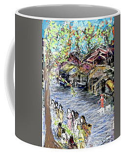 The Roadside Vegetable Vendors At An Indian Village Coffee Mug