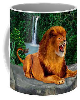 The Roaring Lion King Coffee Mug by Glenn Holbrook