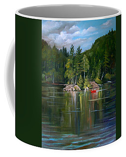 The Rock On Mirror In Woodstock New Hampshire Coffee Mug