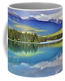 Coffee Mug featuring the photograph The Rockies Reflected In Lake Annette by Tara Turner