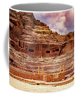The Roman Theater At Petra Coffee Mug
