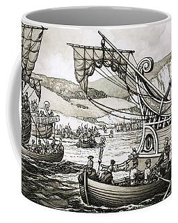 The Romans Under Julius Caesar Landed In 55bc At Dover Coffee Mug