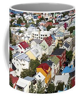 The Roofs Of Reykjavik Coffee Mug