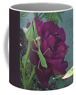 The Rose And Mantis Coffee Mug