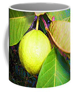 Coffee Mug featuring the digital art The Rose Apple by Winsome Gunning