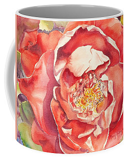 Coffee Mug featuring the painting The Rose by Mary Haley-Rocks
