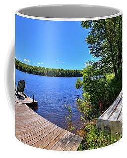 Coffee Mug featuring the photograph The Rowboat On West Lake by David Patterson