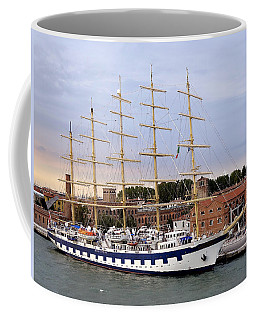 The Royal Clipper Docked In Venice Italy Coffee Mug by Richard Rosenshein
