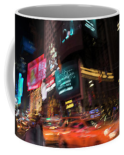 Coffee Mug featuring the photograph The Running Of The Taxis by Alex Lapidus