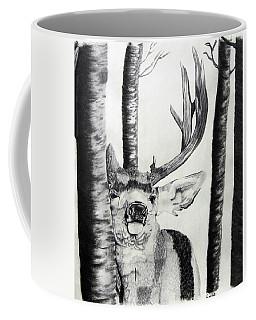Coffee Mug featuring the drawing The Rutt by Mayhem Mediums